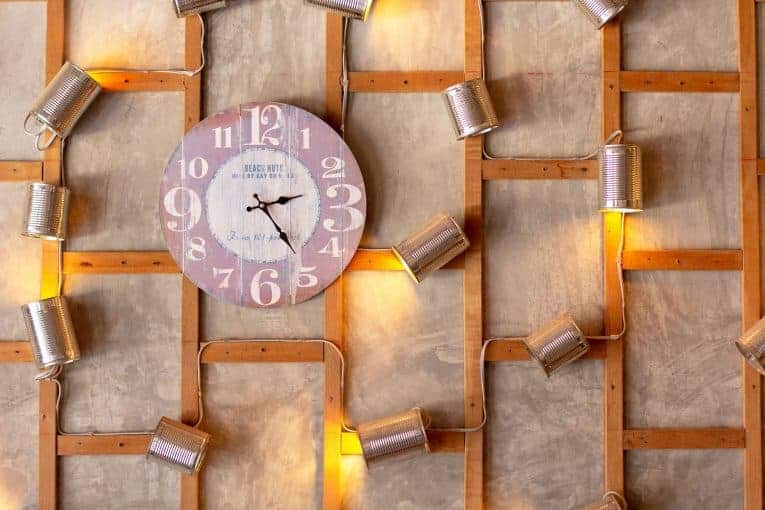 How to decorate around a wall clock